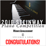 2018 Steinway Piano Competition - Winners Announcement