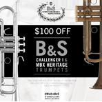 $100 Off B & S Trumpets