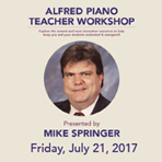 Alfred Piano Teacher Workshop by Mike Springer