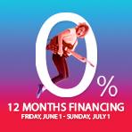 12 Months 0% Financing o.a.c
