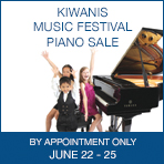 Vancouver Kiwanis Music Festival Piano Sale