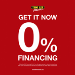 12 Months 0% Financing o.a.c All October Long!