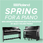 Roland Spring for a Piano - 36 months Interest Free Financing