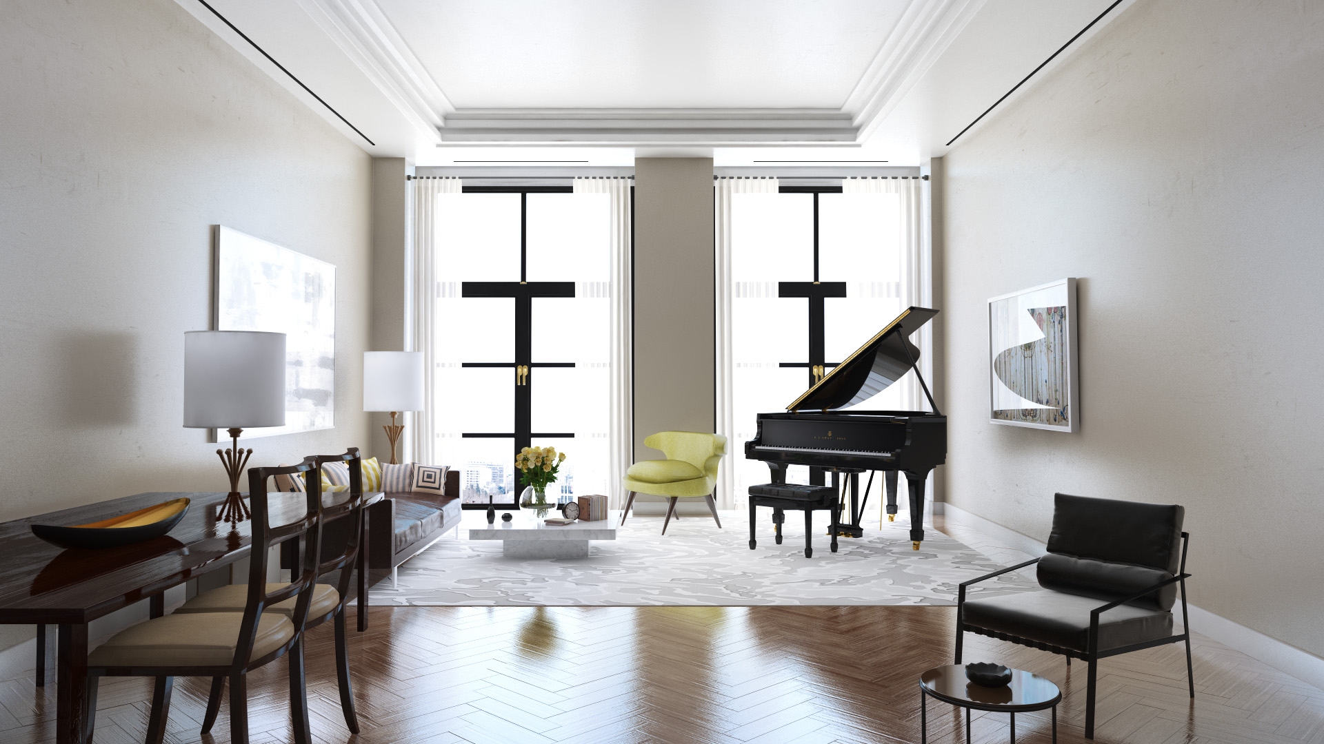 Modern Grand Piano Living Room Pattern - Beautiful Living Room Decor ...